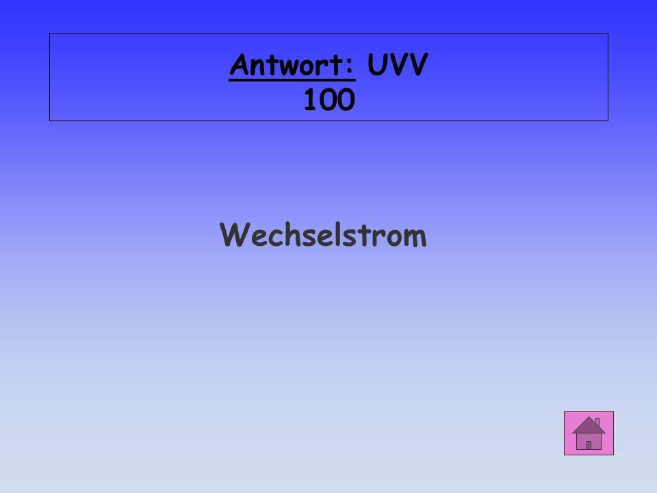 UVV 100 Was bedeutet dieses Zeichen auf Elektrogeräten?