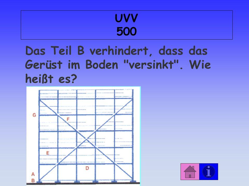 Antwort: UVV 400 mindergiftig