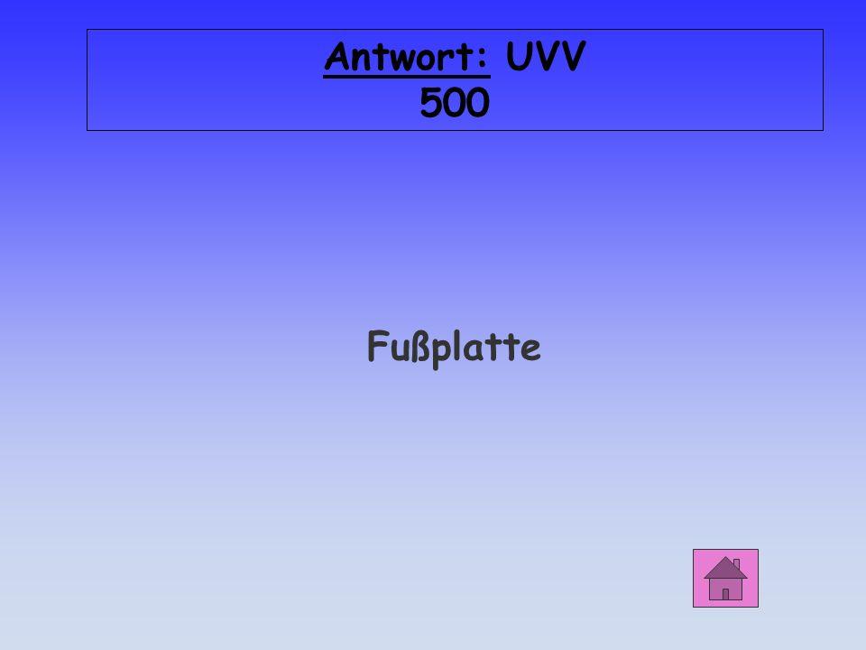 UVV 500 Das Teil B verhindert, dass das Gerüst im Boden