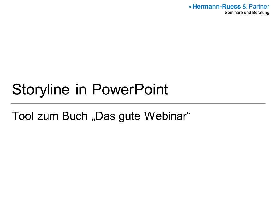 Storyline in PowerPoint Tool zum Buch Das gute Webinar