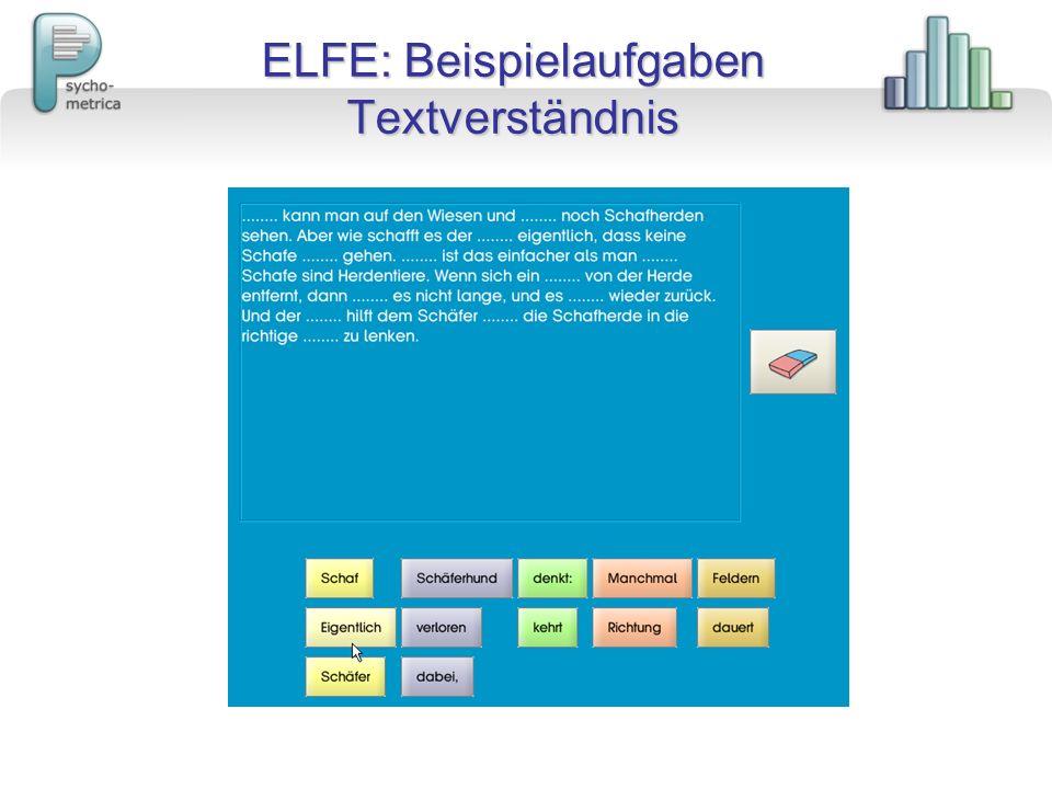 ELFE: Beispielaufgaben Textverständnis