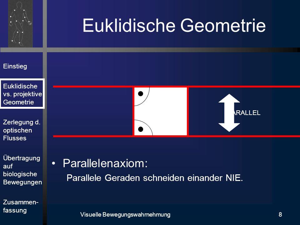 Einstieg Euklidische vs.projektive Geometrie Zerlegung d.