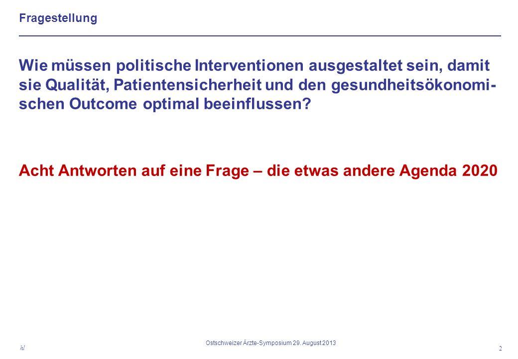 Fragestellung 2 hl Ostschweizer Ärzte-Symposium 29.