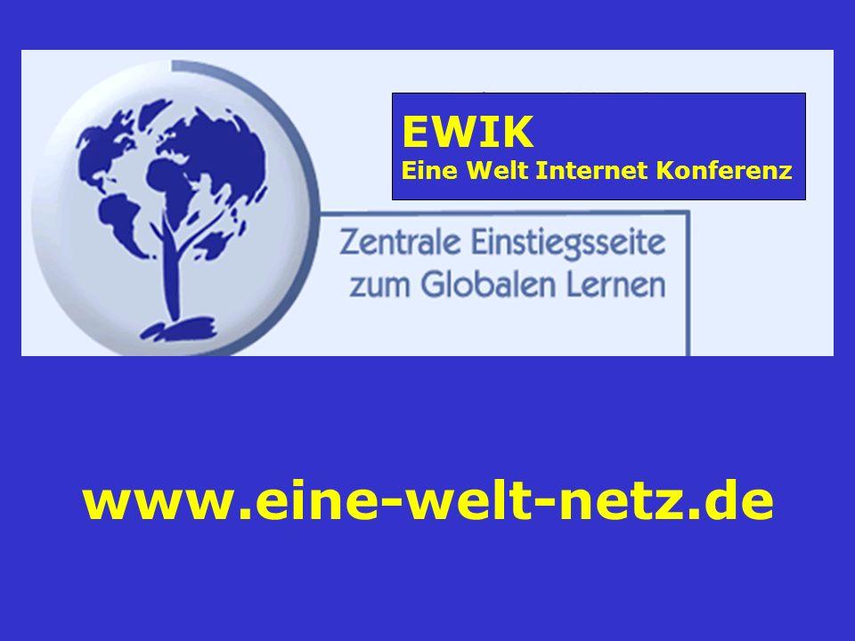 EWIK Eine Welt Internet Konferenz www.eine-welt-netz.de