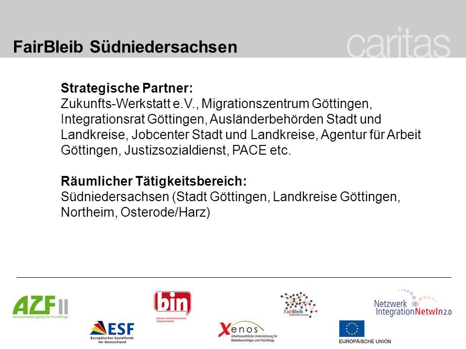 FairBleib Südniedersachsen Strategische Partner: Zukunfts-Werkstatt e.V., Migrationszentrum Göttingen, Integrationsrat Göttingen, Ausländerbehörden St