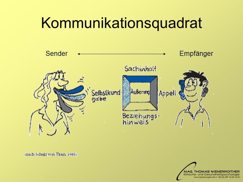 Kommunikationsquadrat SenderEmpfänger