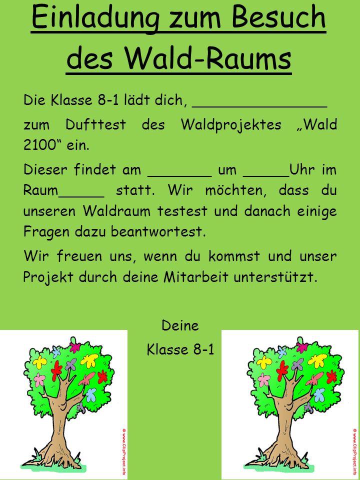 Projekt: Wald 2100 Der Wald-Raum
