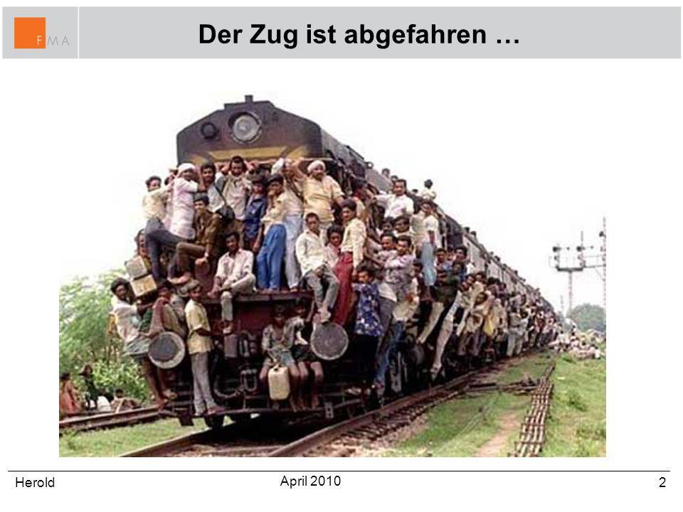 Der Zug ist abgefahren … 2Herold April 2010
