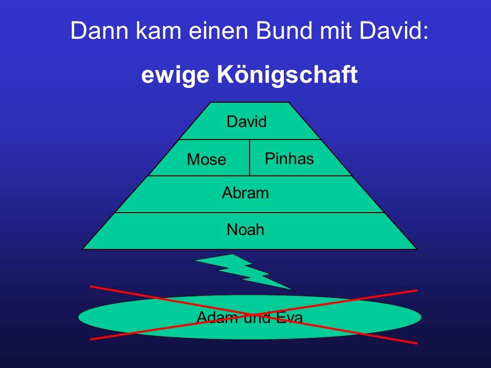 Dann kam einen Bund mit David: ewige Königschaft Adam und Eva Noah Abram Mose Pinhas David