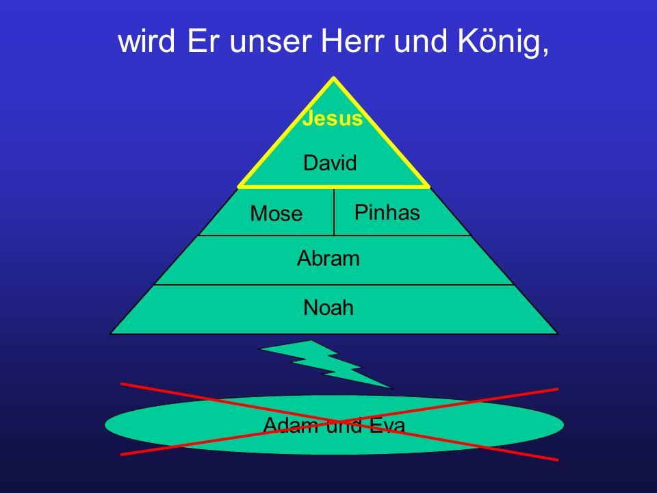 wird Er unser Herr und König, Adam und Eva Noah Abram Mose Pinhas David Jesus