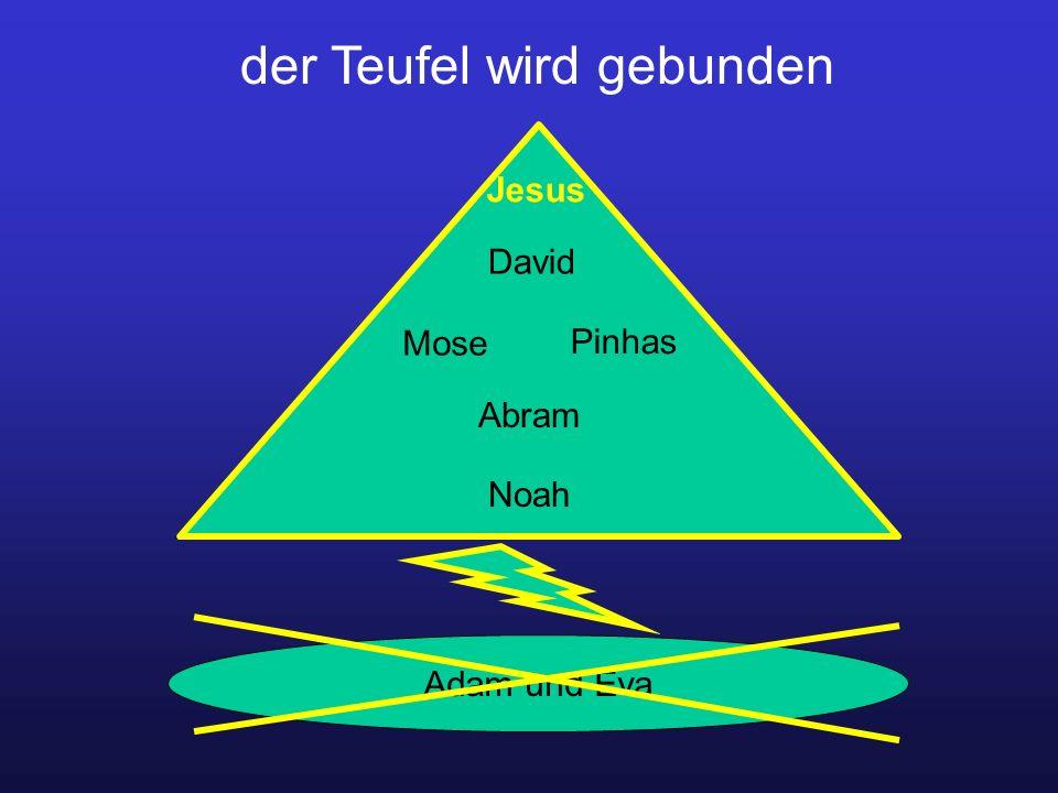 der Teufel wird gebunden Adam und Eva David Jesus Mose Pinhas Abram Noah