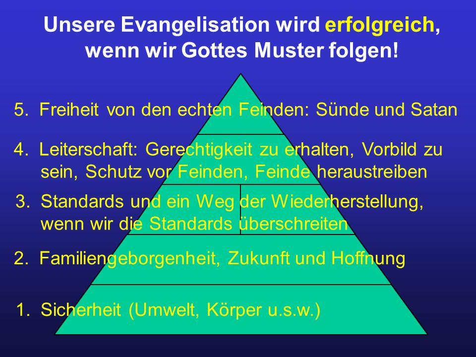 Unsere Evangelisation wird erfolgreich, wenn wir Gottes Muster folgen.
