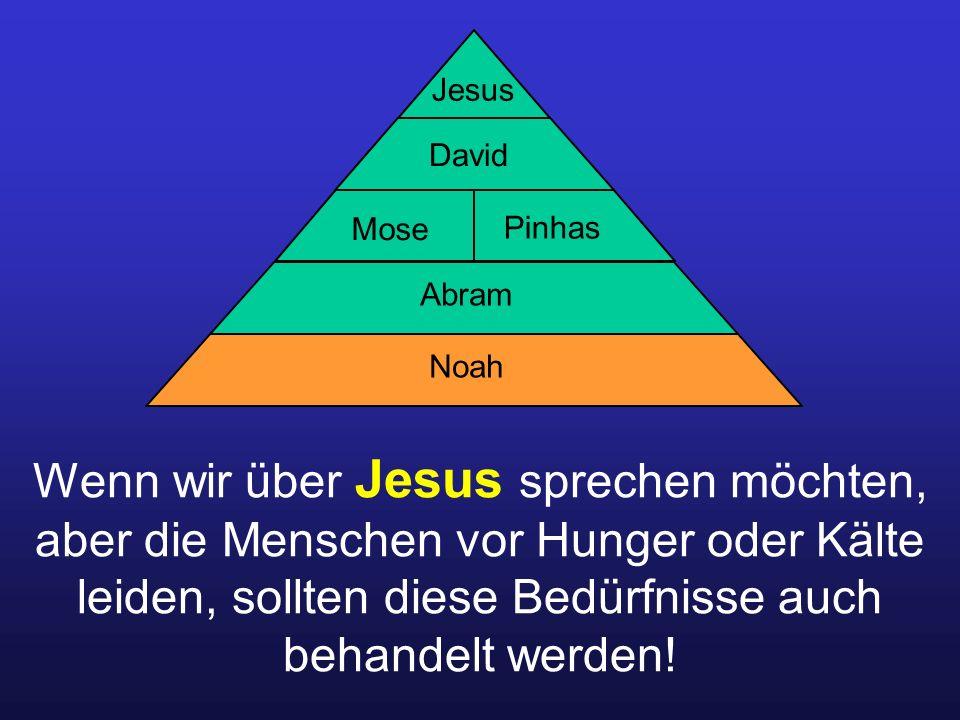 Wenn wir über Jesus sprechen möchten, aber die Menschen vor Hunger oder Kälte leiden, sollten diese Bedürfnisse auch behandelt werden.