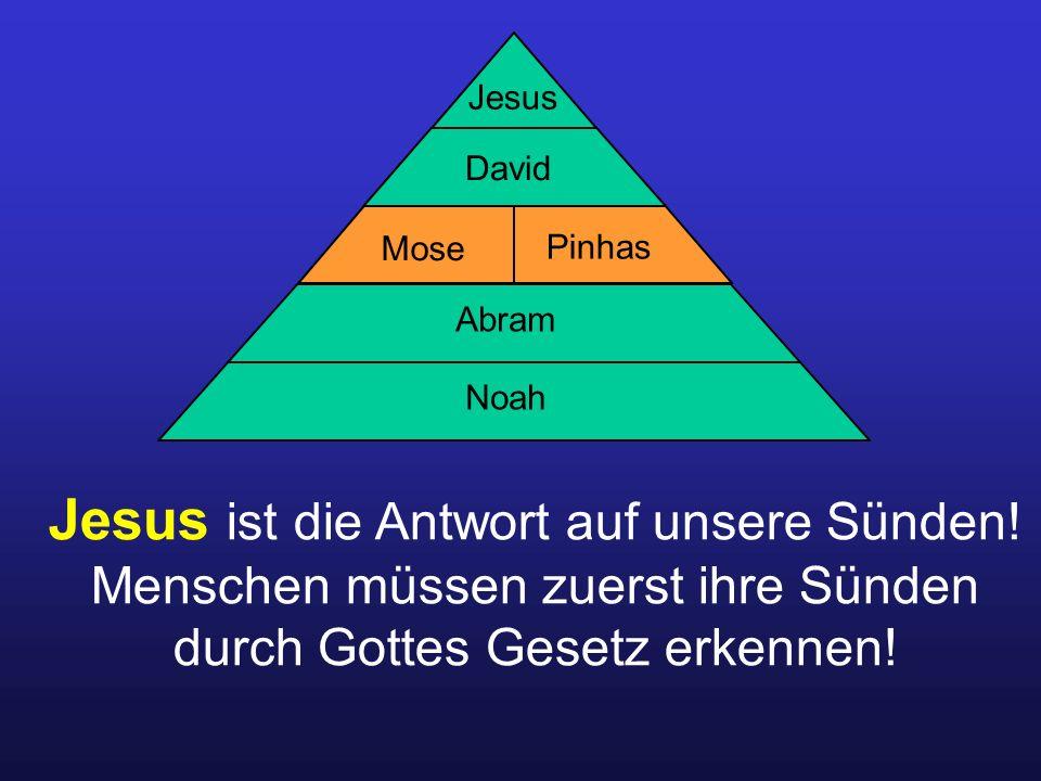 Jesus ist die Antwort auf unsere Sünden.