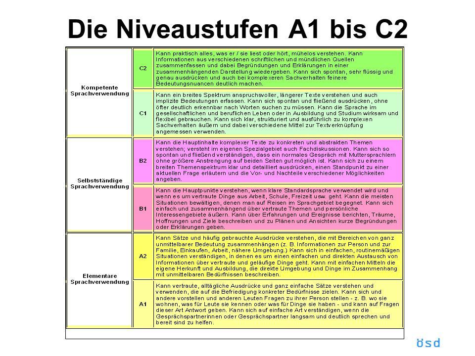 ösd Die Niveaustufen A1 bis C2