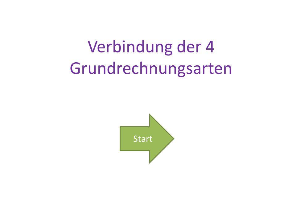 Start Verbindung der 4 Grundrechnungsarten