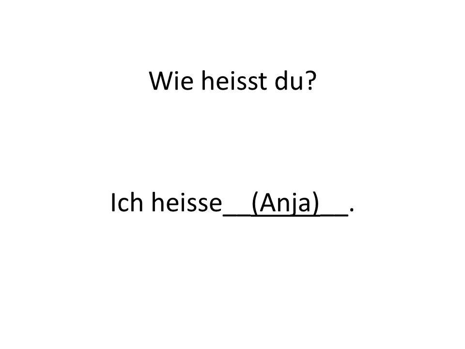 Wie heisst du? Ich heisse__(Anja)__.