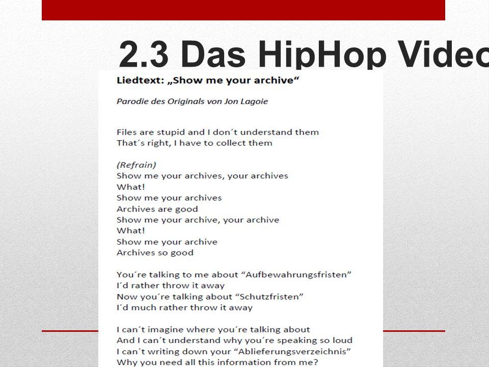 2.3 Das HipHop Video
