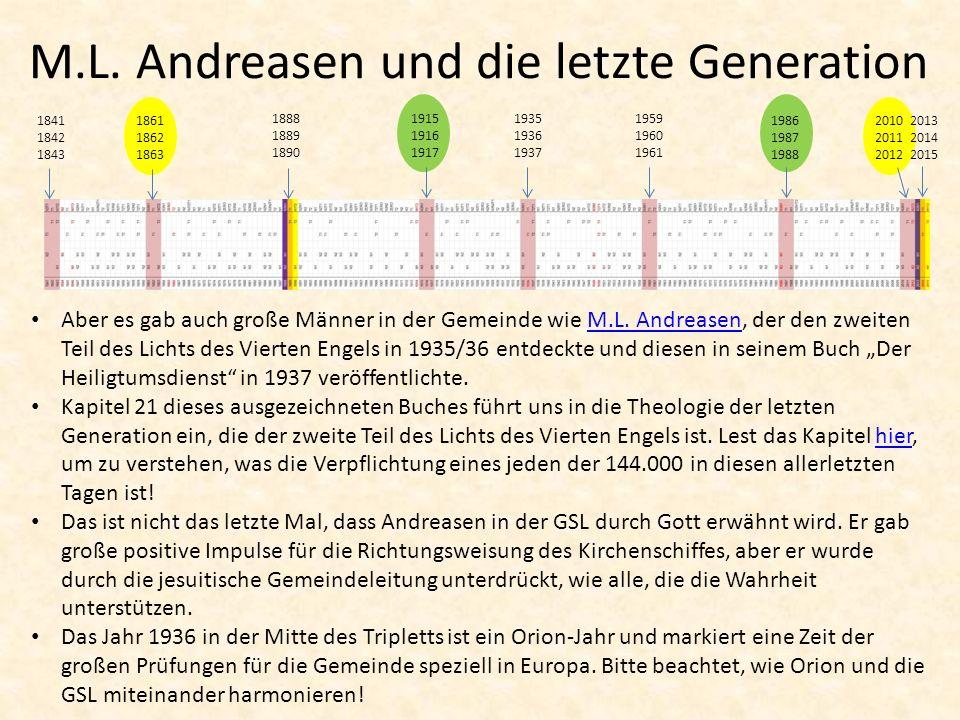 M.L.Andreasen und die letzte Generation Aber es gab auch große Männer in der Gemeinde wie M.L.
