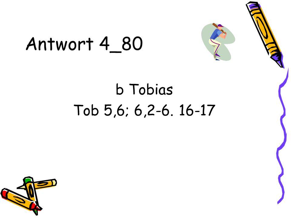 Antwort 4_80 b Tobias Tob 5,6; 6,2-6. 16-17