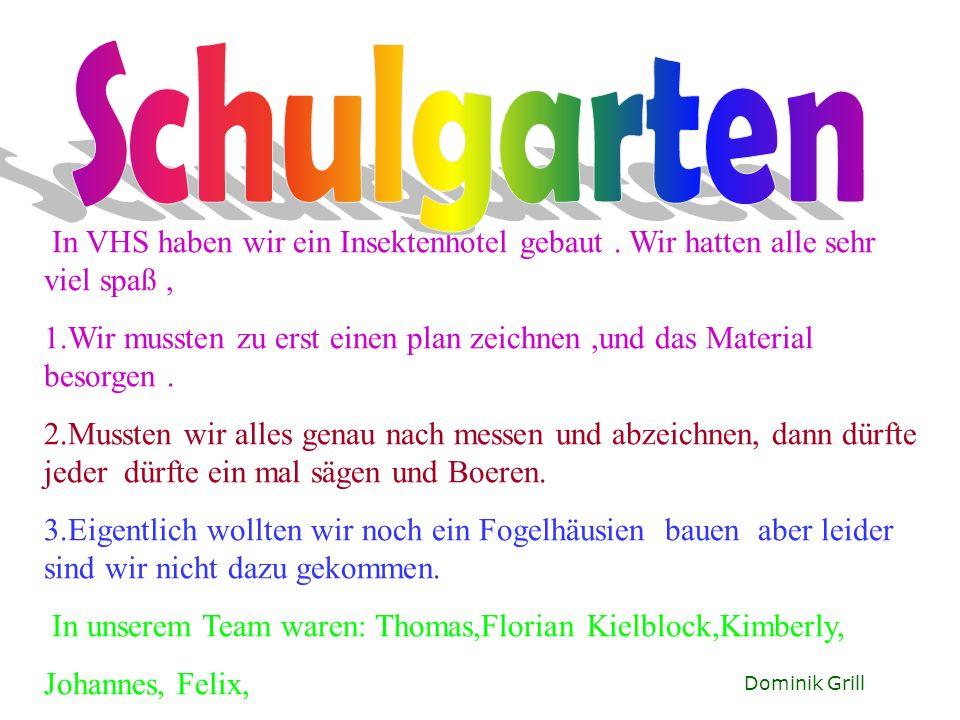 Thomas Gschwendtner Im Schulgarten wächst Petersilie,Schnittlauch,Vogelbeeren,Erdbeeren das auch als Obst im Garten wächst.