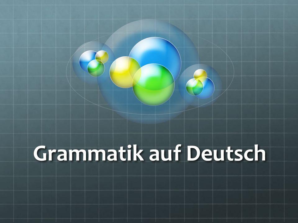 Grammatik auf Deutsch
