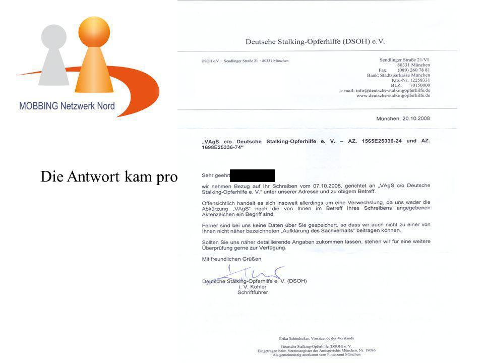 Dorfstr. 57, 24107 Kiel/Ottendorf Die Antwort kam prompt und war eindeutig!