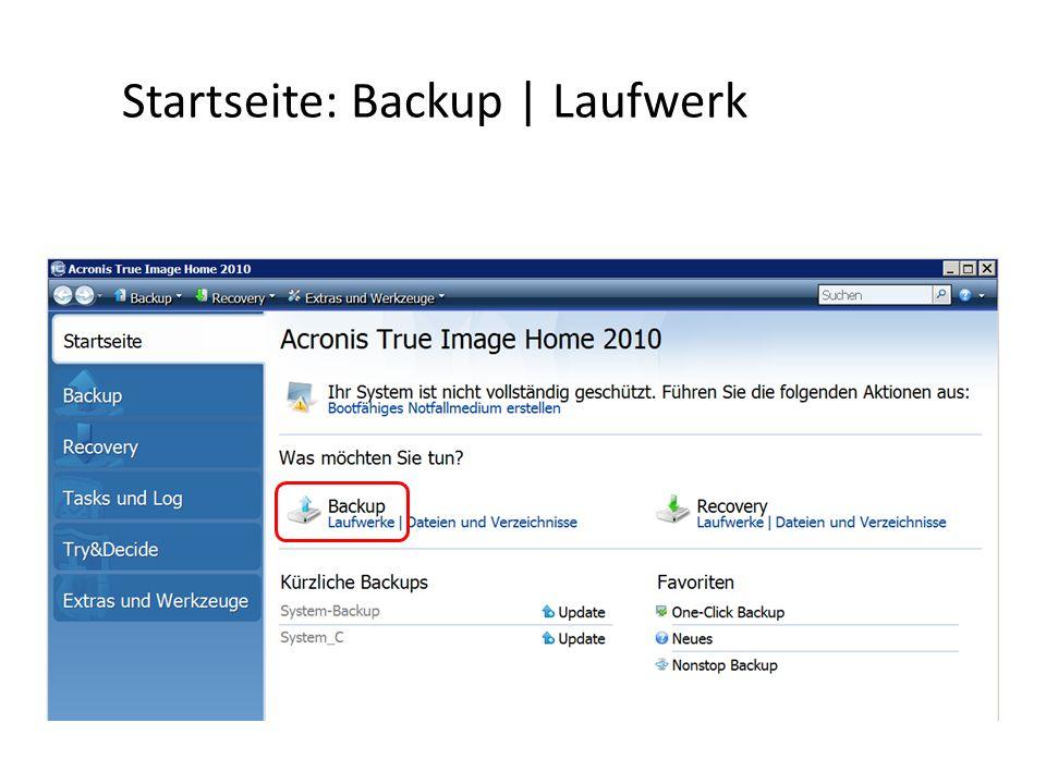 Startseite: Backup   Laufwerk