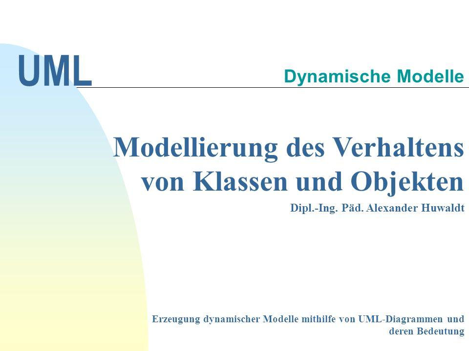 Modellierung des Verhaltens von Klassen und Objekten Dipl.-Ing.