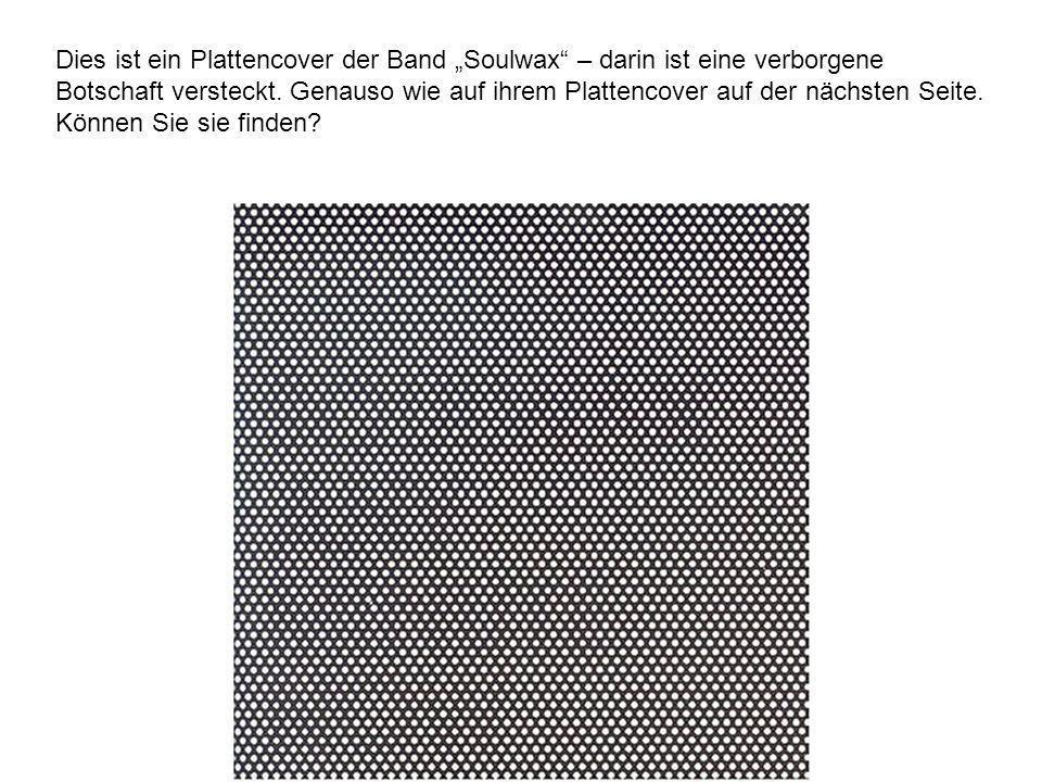 Dies ist ein Plattencover der Band Soulwax – darin ist eine verborgene Botschaft versteckt.