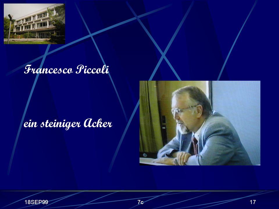 18SEP997c17 Francesco Piccoli ein steiniger Acker