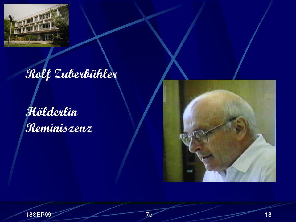 18SEP997c18 Rolf Zuberbühler Hölderlin Reminiszenz