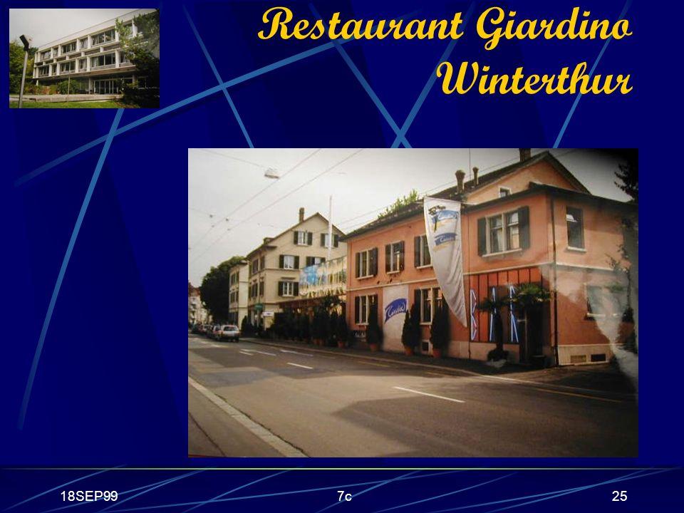 18SEP997c25 Restaurant Giardino Winterthur
