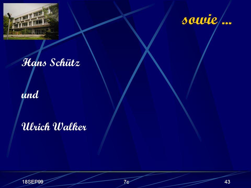 18SEP997c43 sowie... Hans Schütz und Ulrich Walker