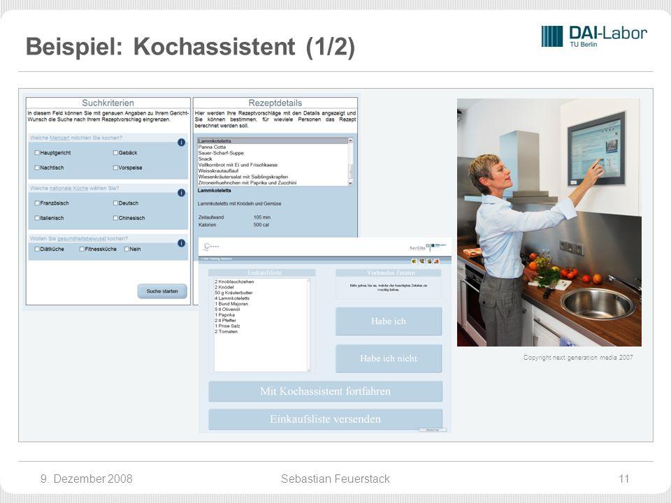 Beispiel: Kochassistent (1/2) 9.