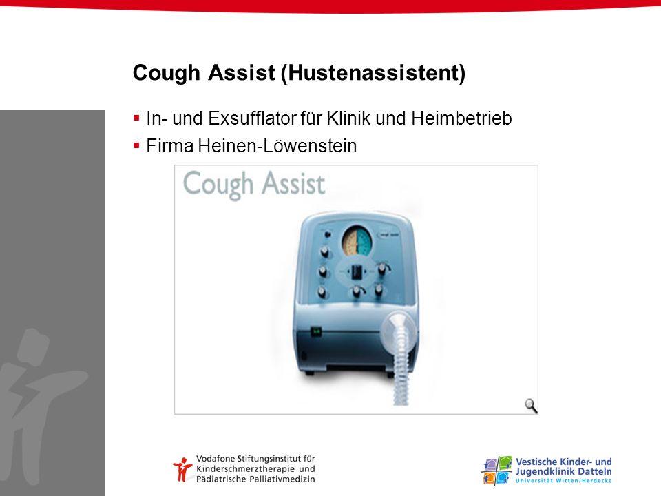 Cough Assist (Hustenassistent) In- und Exsufflator für Klinik und Heimbetrieb Firma Heinen-Löwenstein