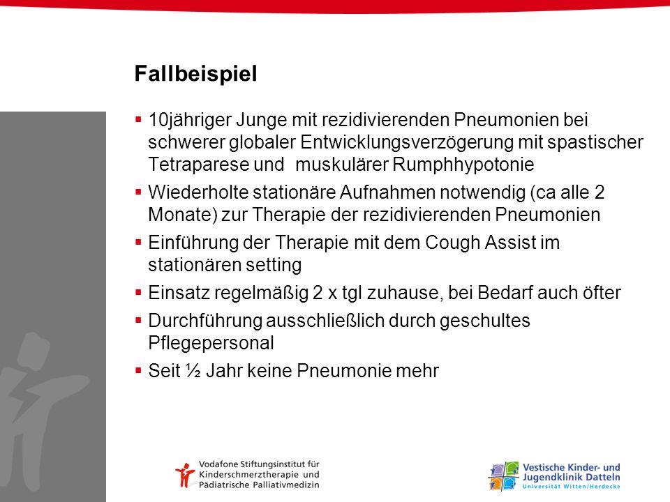 Fallbeispiel 10jähriger Junge mit rezidivierenden Pneumonien bei schwerer globaler Entwicklungsverzögerung mit spastischer Tetraparese und muskulärer