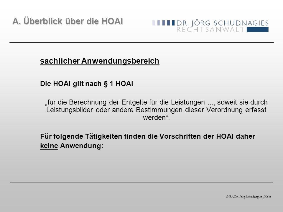 2. Schritt: Verwendung der richtigen Kostenermittlung © RA Dr. Jörg Schudnagies, Köln