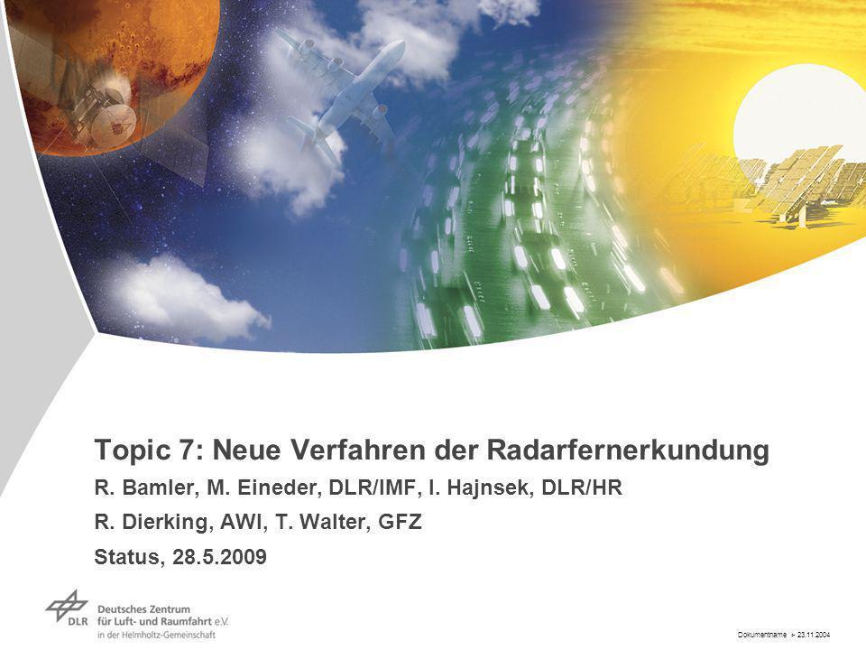 Dokumentname > 23.11.2004 Topic 7: Neue Verfahren der Radarfernerkundung R.