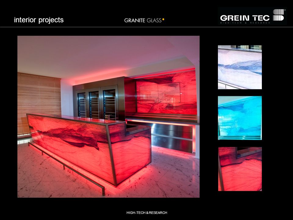 HIGH-TECH & RESEARCH interior projects