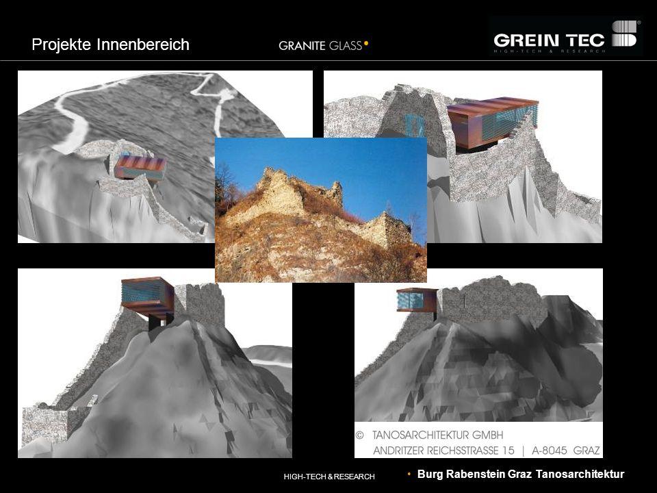HIGH-TECH & RESEARCH Projekte Innenbereich Burg Rabenstein Graz Tanosarchitektur