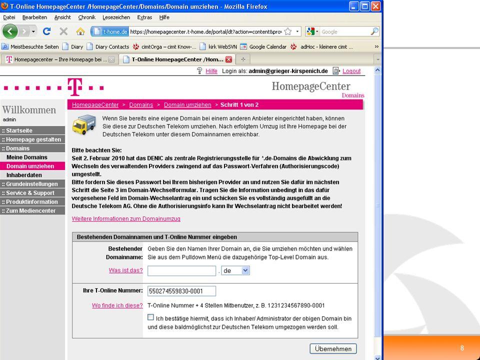 XP-UG, 10.2.2010 Klaus.Grieger@cimt-ag.de, Die Zukunft von Enterprise Portal Servern8 Homepage-Center