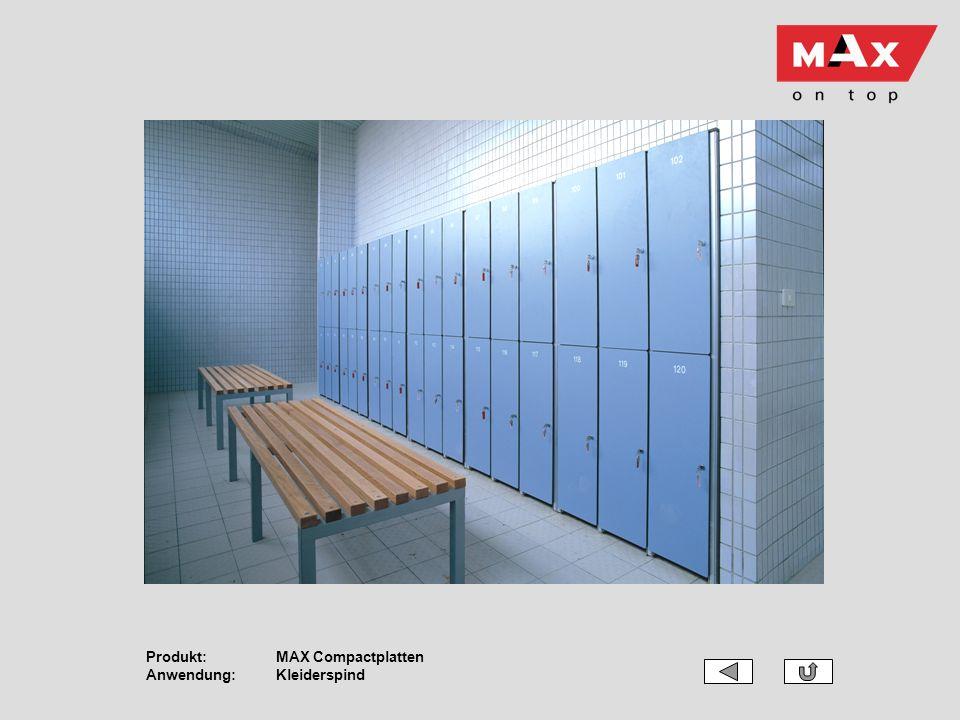 Produkt:MAX Compactplatten Anwendung:Kleiderspind