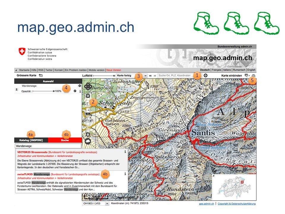 map.geo.admin.ch 4b 4a 4 4 1 1 5 5 2 2 3 3
