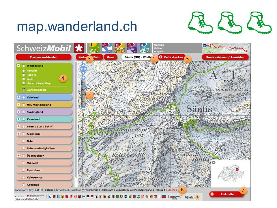 map.wanderland.ch 2 2 3 3 1 1 5 5 4 4 6 6 7 7