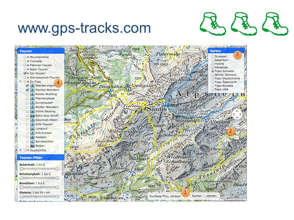 www.gps-tracks.com 2 2 3 3 1 1 4 4