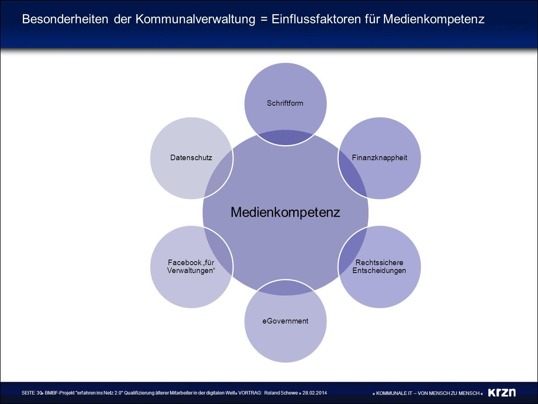 » KOMMUNALE IT – VON MENSCH ZU MENSCH « Besonderheiten der Kommunalverwaltung = Einflussfaktoren für Medienkompetenz » BMBF-Projekt