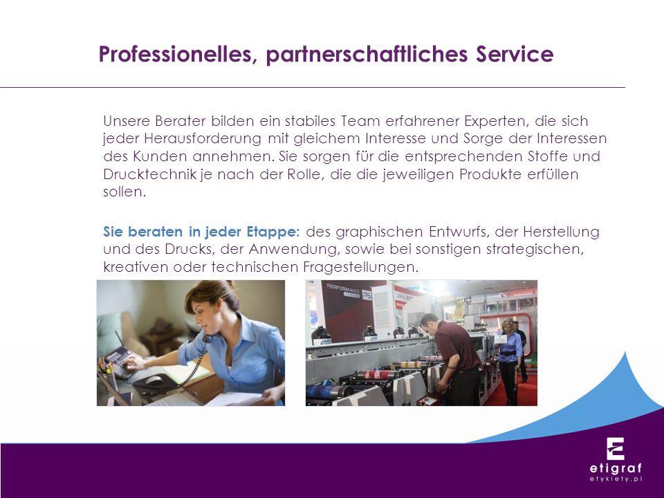 Professionelles, partnerschaftliches Service Unsere Berater bilden ein stabiles Team erfahrener Experten, die sich jeder Herausforderung mit gleichem