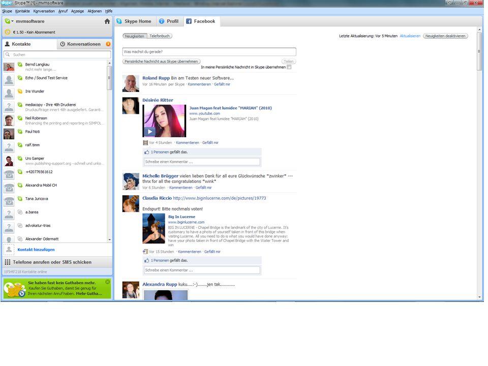 Skype 5.0 Mit Skype 5.0 lassen sich die neuen Gruppen-Videochats kostenfrei testen.