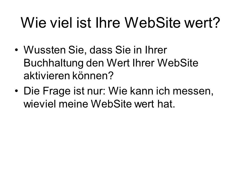 Wie viel ist Ihre WebSite wert.